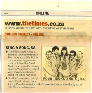 """When Master Jack was voted """"all time favorite"""" song of South Africa"""